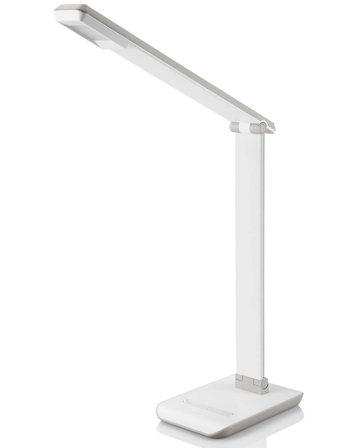 Förbättrad skrivbordsbelysning för bekvämlighets skull