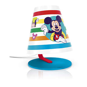 Mickey Mouse, wit, LED, tafellamp