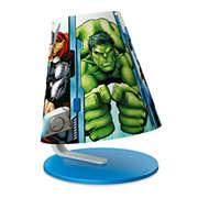 Philips Marvel Table lamp 71764/35/26 Avengers blue LED