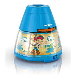 Disney 2-i-1-lösning med projektor och nattlampa