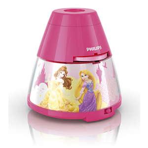 Disney 2-i-1 projektor og nattlys