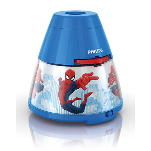 Marvel 2-in-1: projector en nachtlampje