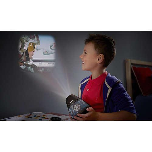 2-in-1: projector en nachtlampje