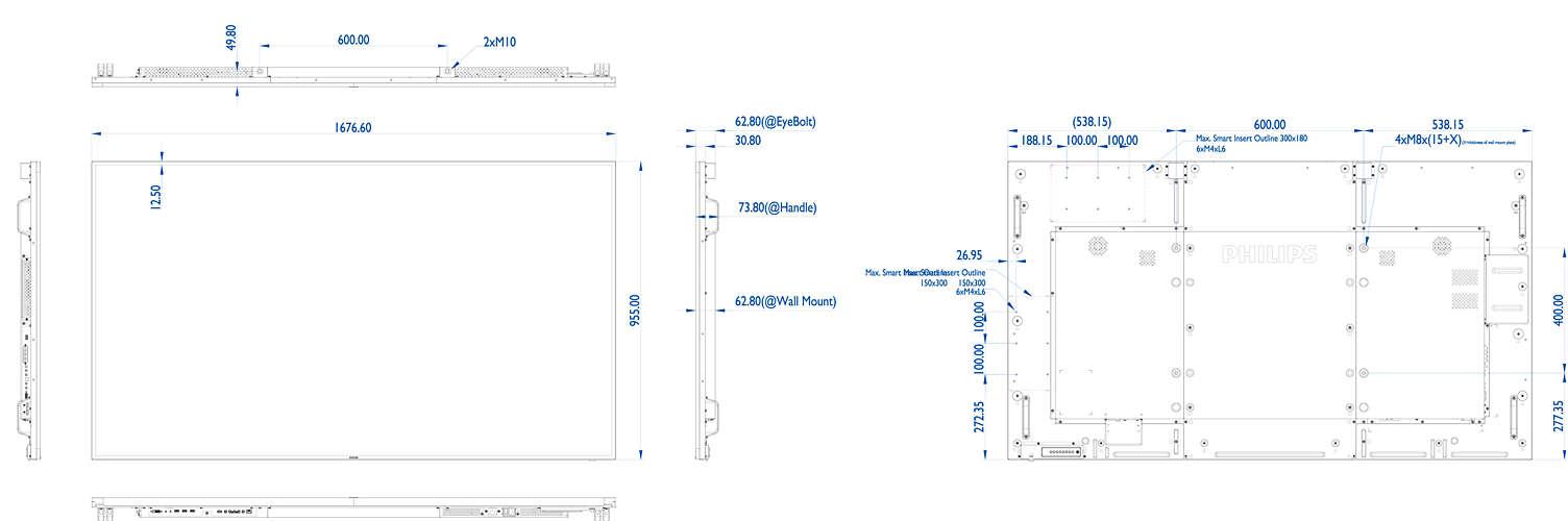 U-Line Display 75BDL3000U/00 | Philips