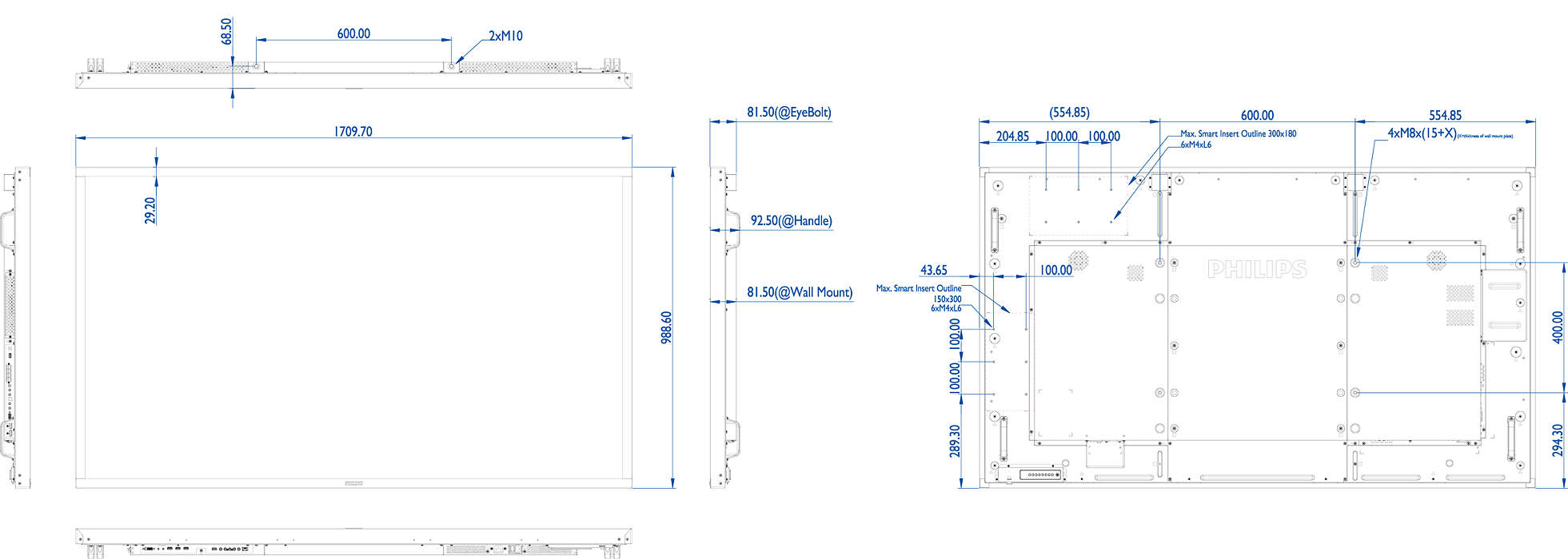 Multi Touch Display 75bdl3010t 00 Philips Available Part Diagrams 75 In Body Hardware Discover A New Level Of Interaction