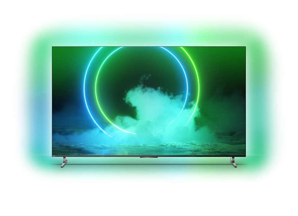 飞利浦 Mini LED 电视,采用 4 面环景光