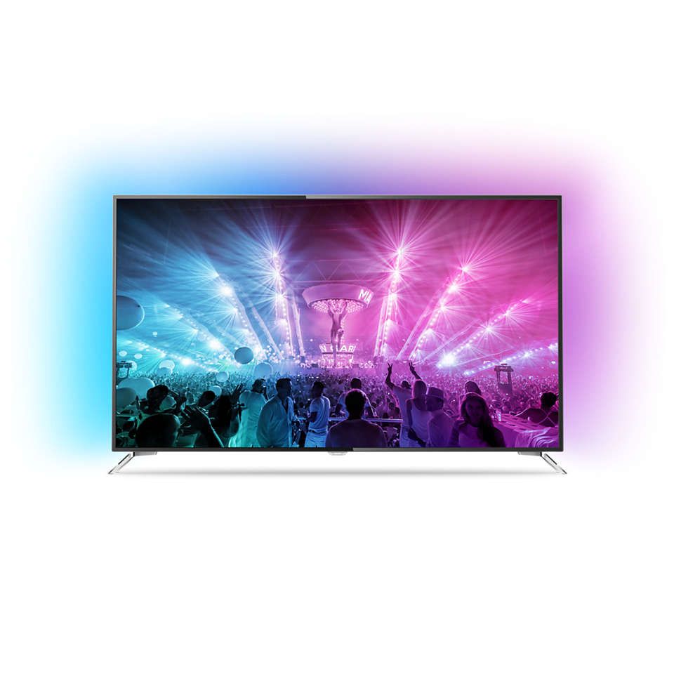 7000 series Ultraflacher 4K Fernseher powered by Android TV™