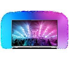 75PUS7101/12  Svært slank 4K-TV drevet av Android TV™