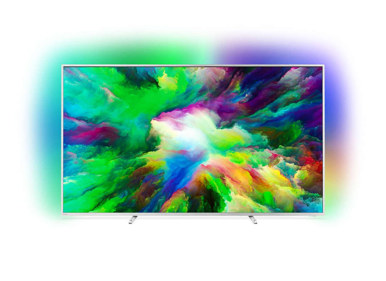 Ultraflacher 4K UHD-LED-Android-Fernseher