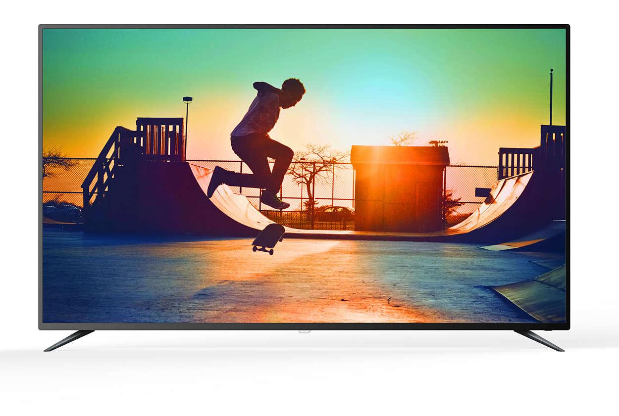 دقة 4K، شاشة رفيعة جدًا، Smart LED TV