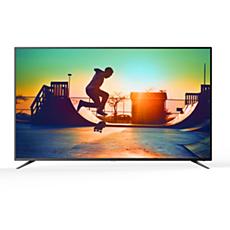 75PUT6303/56  دقة 4K، شاشة رفيعة جدًا، Smart LED TV