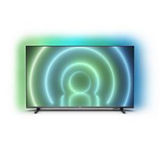 75PUT7906/56 LED 4K UHD، LED، تلفزيون بنظام Android