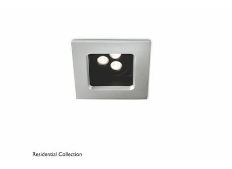 Stardust recessed aluminium 1x6W SELV