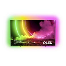 77OLED806/12 OLED טלוויזיה Android עם צג 4K UHD E-OLED