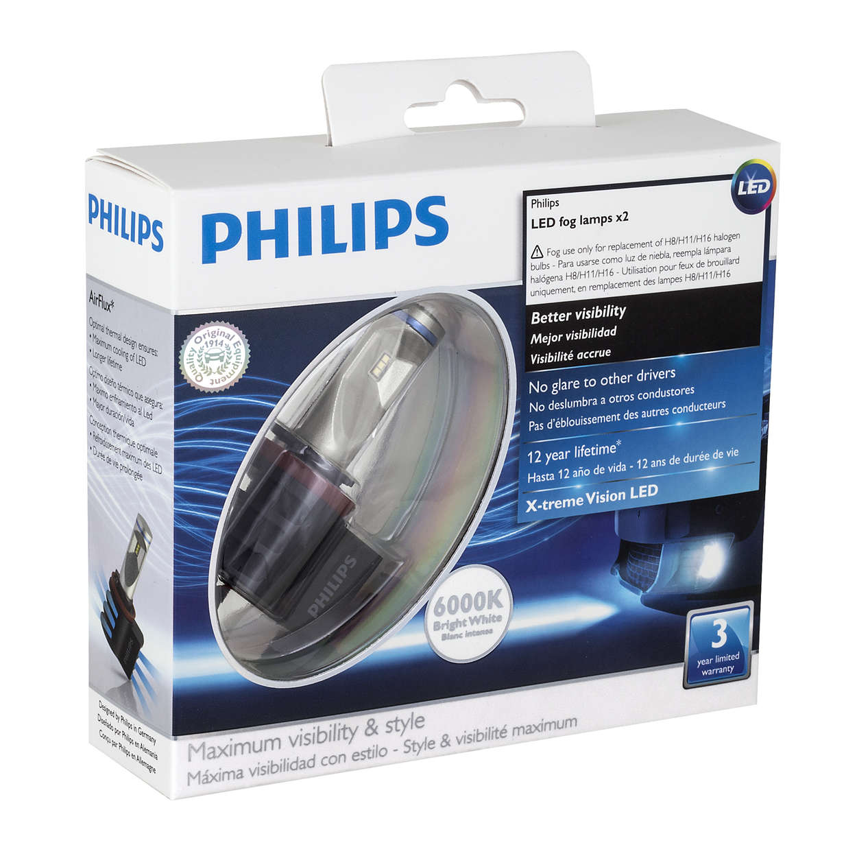 x tremevision led fog lamp 78719719 philips. Black Bedroom Furniture Sets. Home Design Ideas