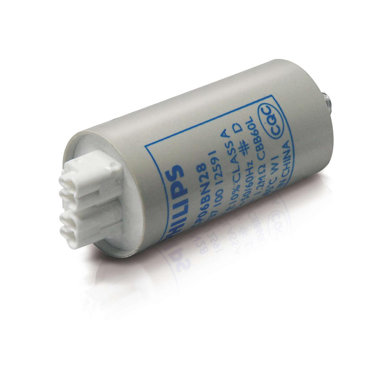 Capacitors for HID lamp circuits