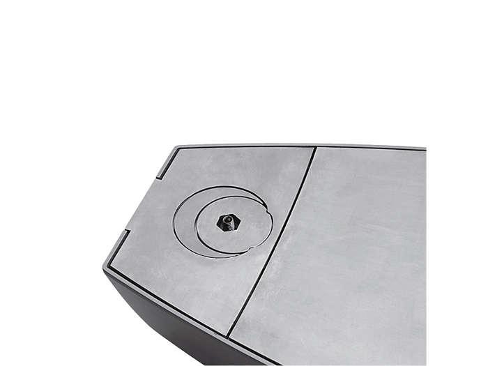 Montáž sbočním vstupem: Obě přepážky vblízkosti otvoru, povrch svítidla je zcela plochý.