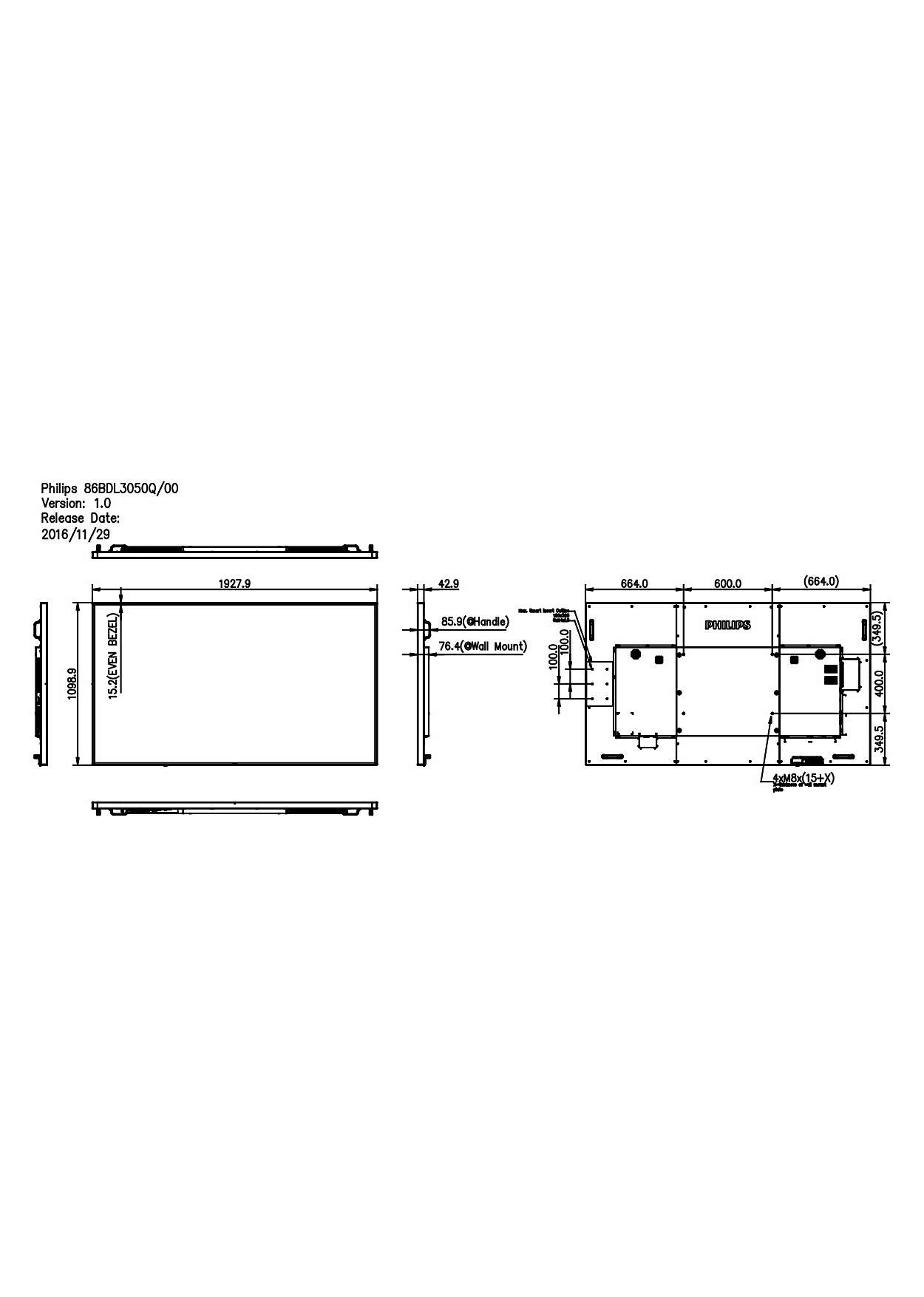 Q Line Display 86bdl3050q 00 Philips Main Board Schematic Circuit Diagram Intensify Your Signage Experience