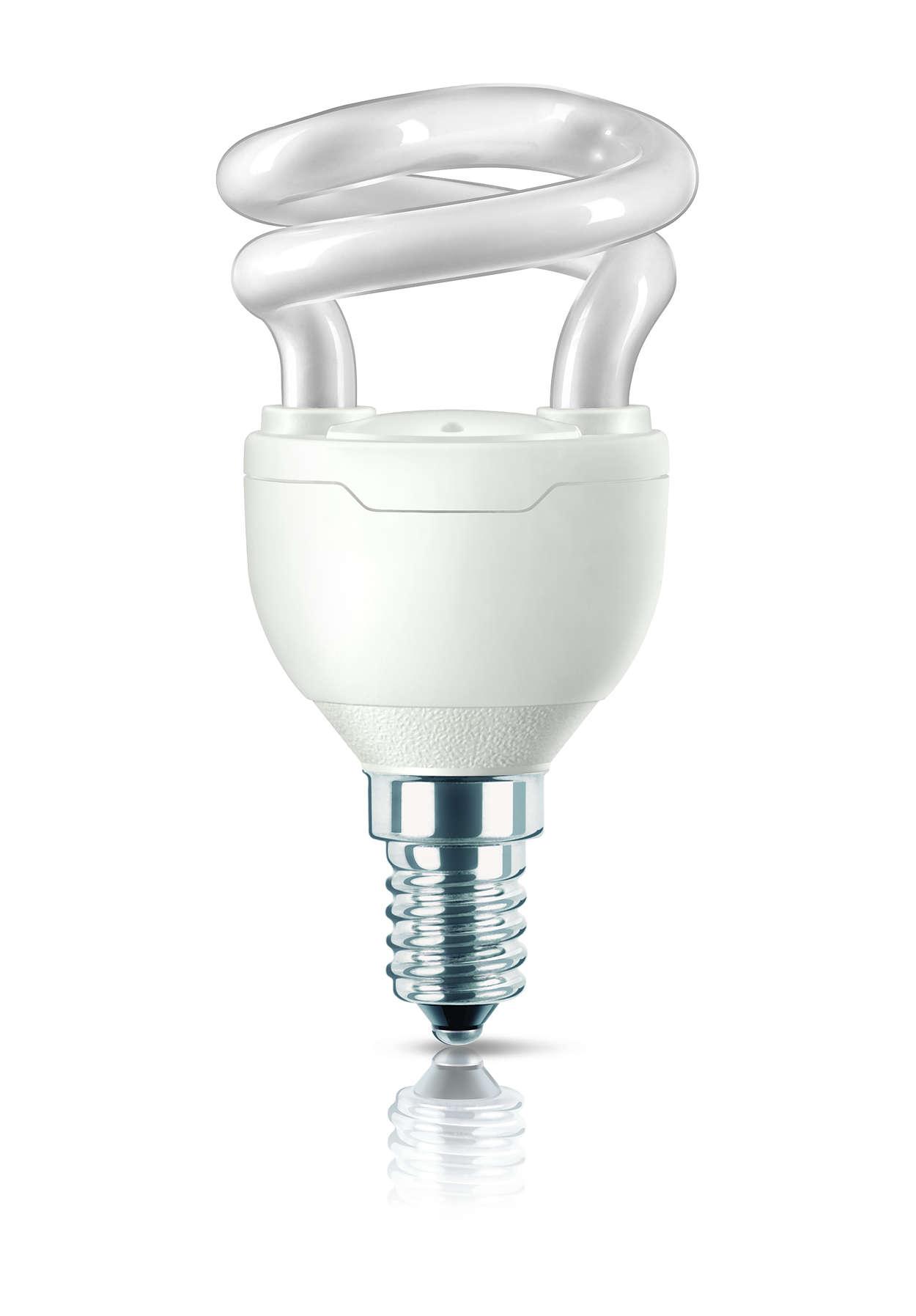 La più piccola lampadina a risparmio energetico