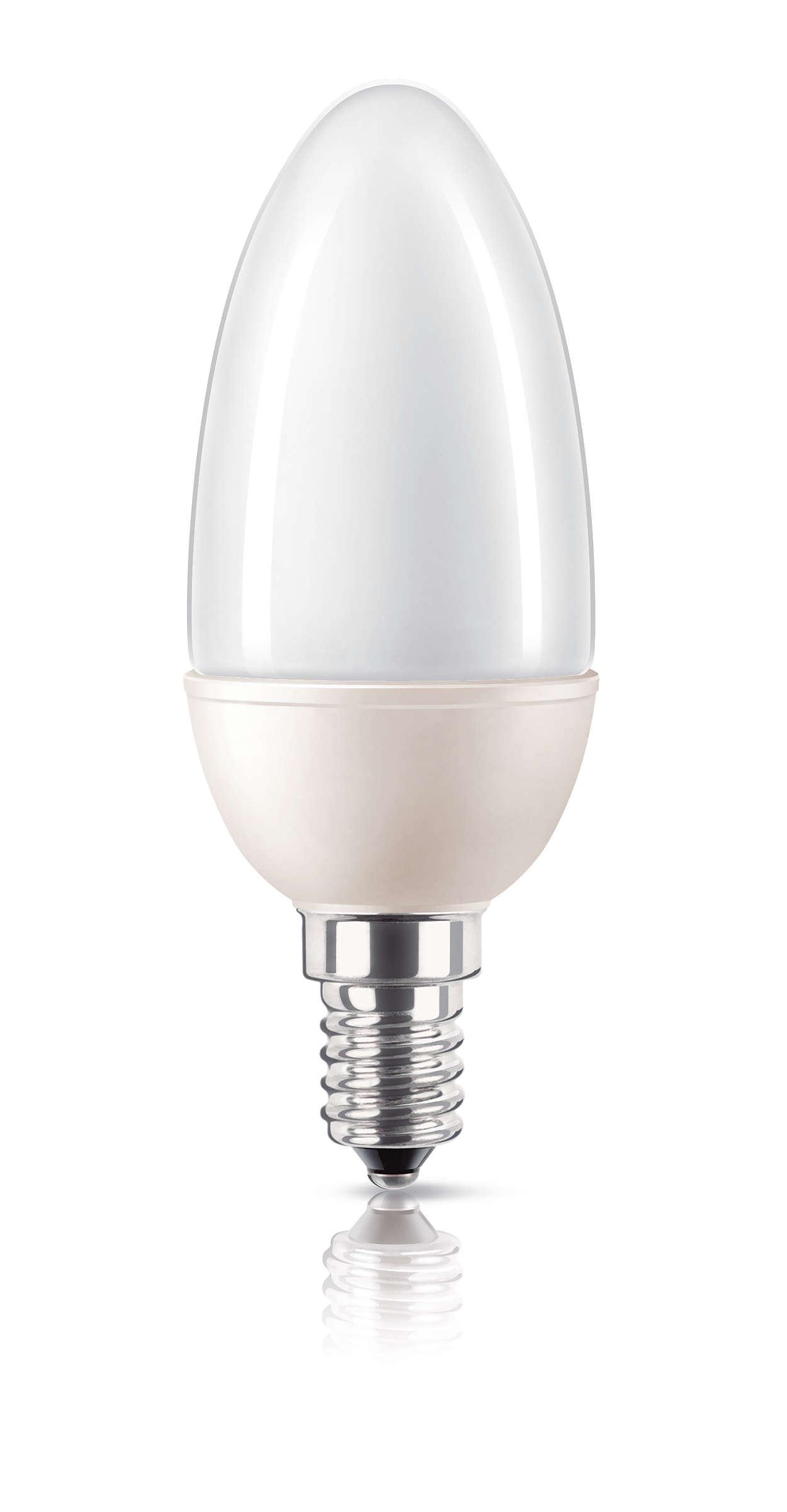 Bombilla básica de bajo consumo con diseño de vela