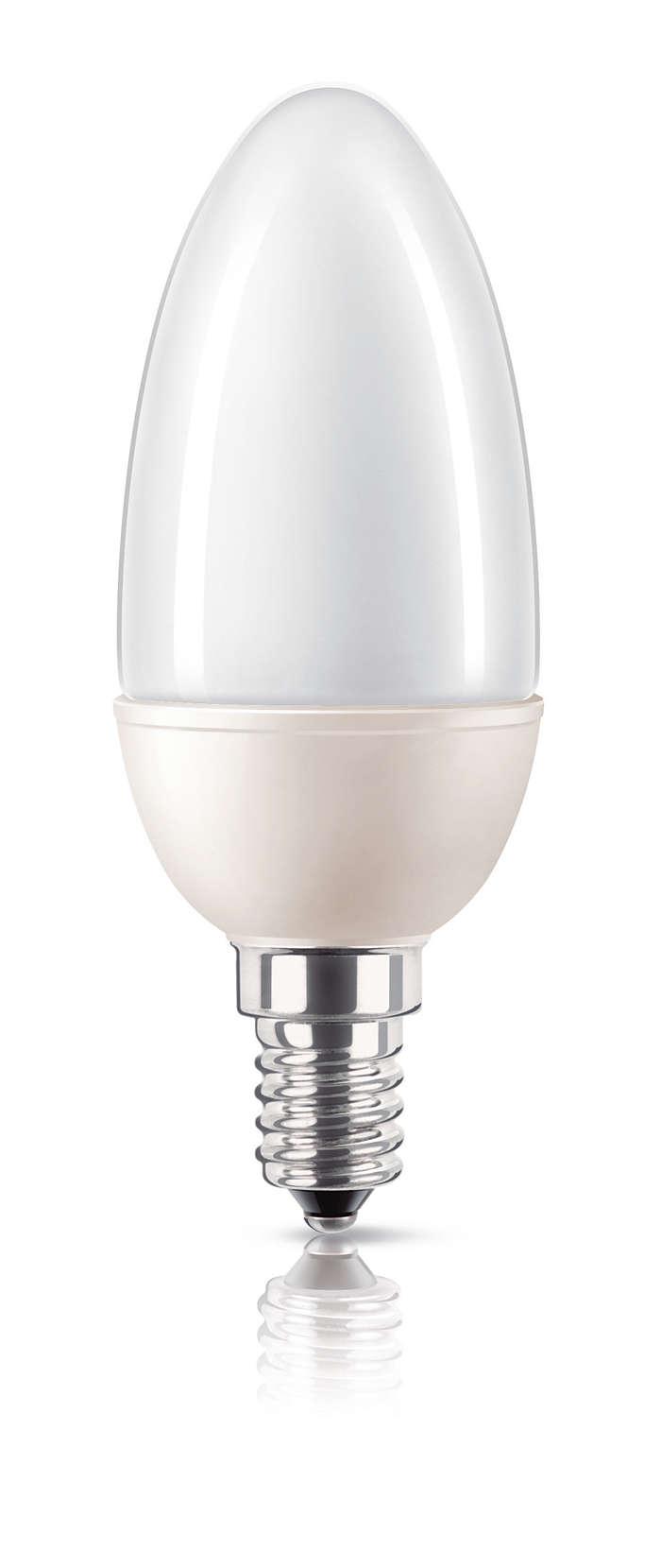 Energiezuinig licht in kaarsvorm