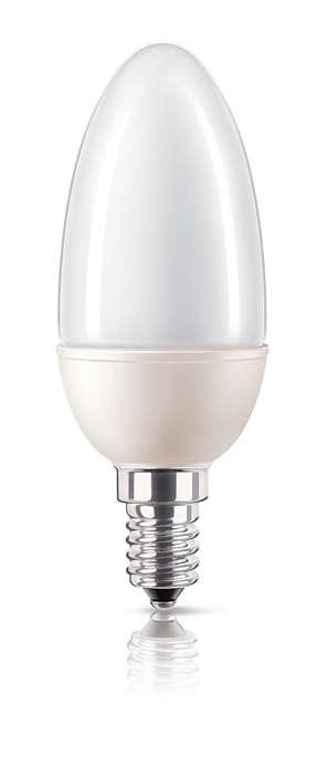 Energibesparende enkelt lys med mignondesign