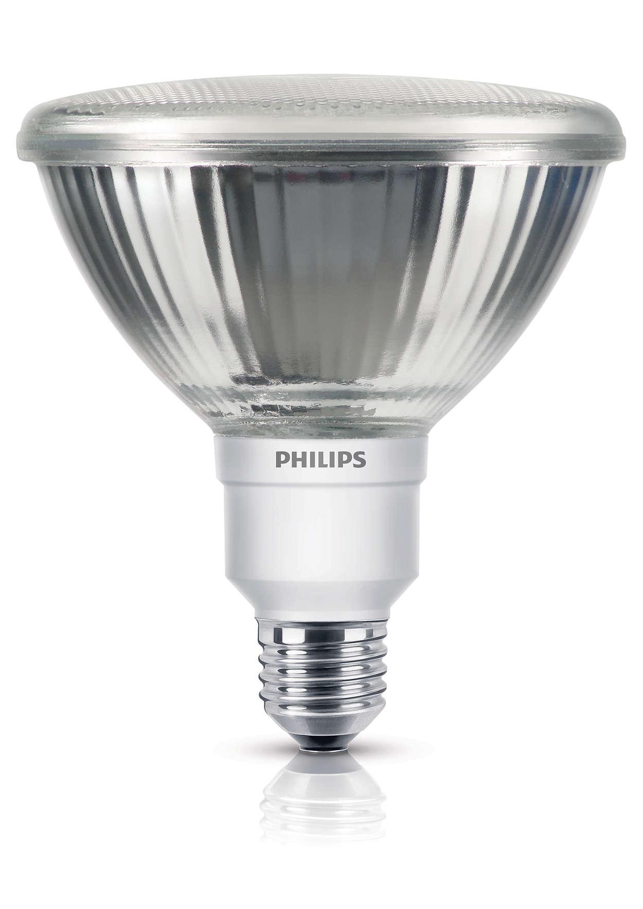 Tecnologia economizadora numa lâmpada direccional