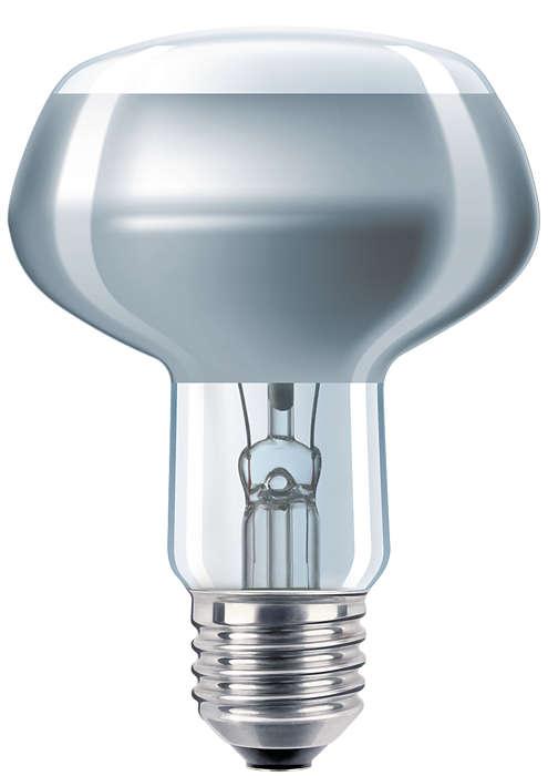 Reflektor i farget pressglass