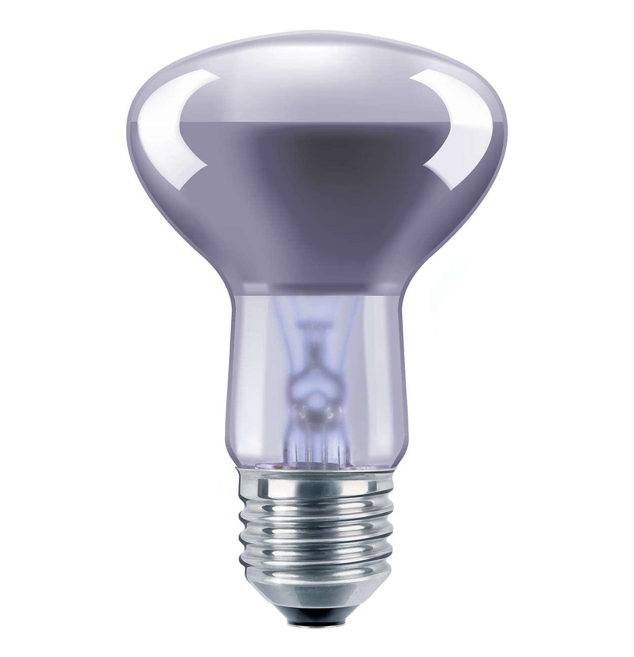 Reflektorlyskilde med neodym-glaspære