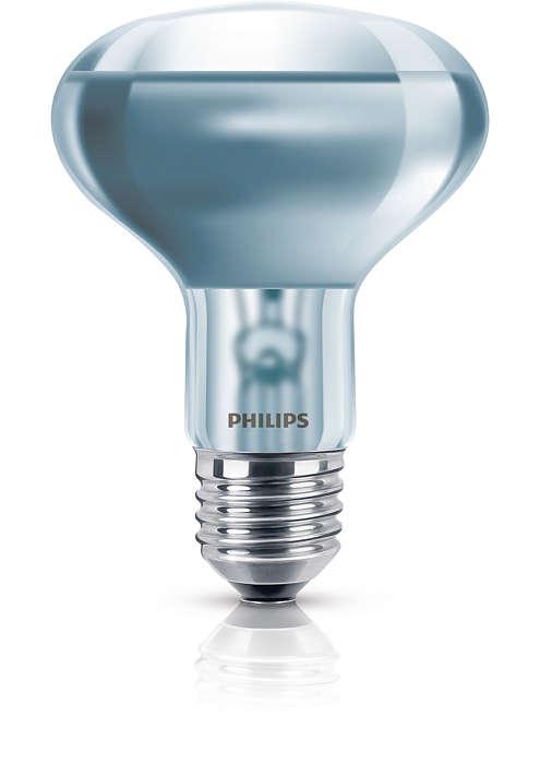 Ampoule à réflecteur avec verre au néodyme