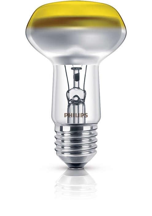 Dažyta reflektorinė lemputė