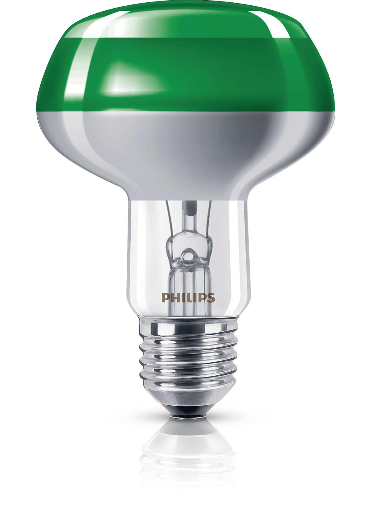 Farbige Reflektorlampe