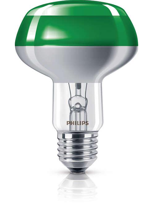 Ampoule à réflecteur colorée
