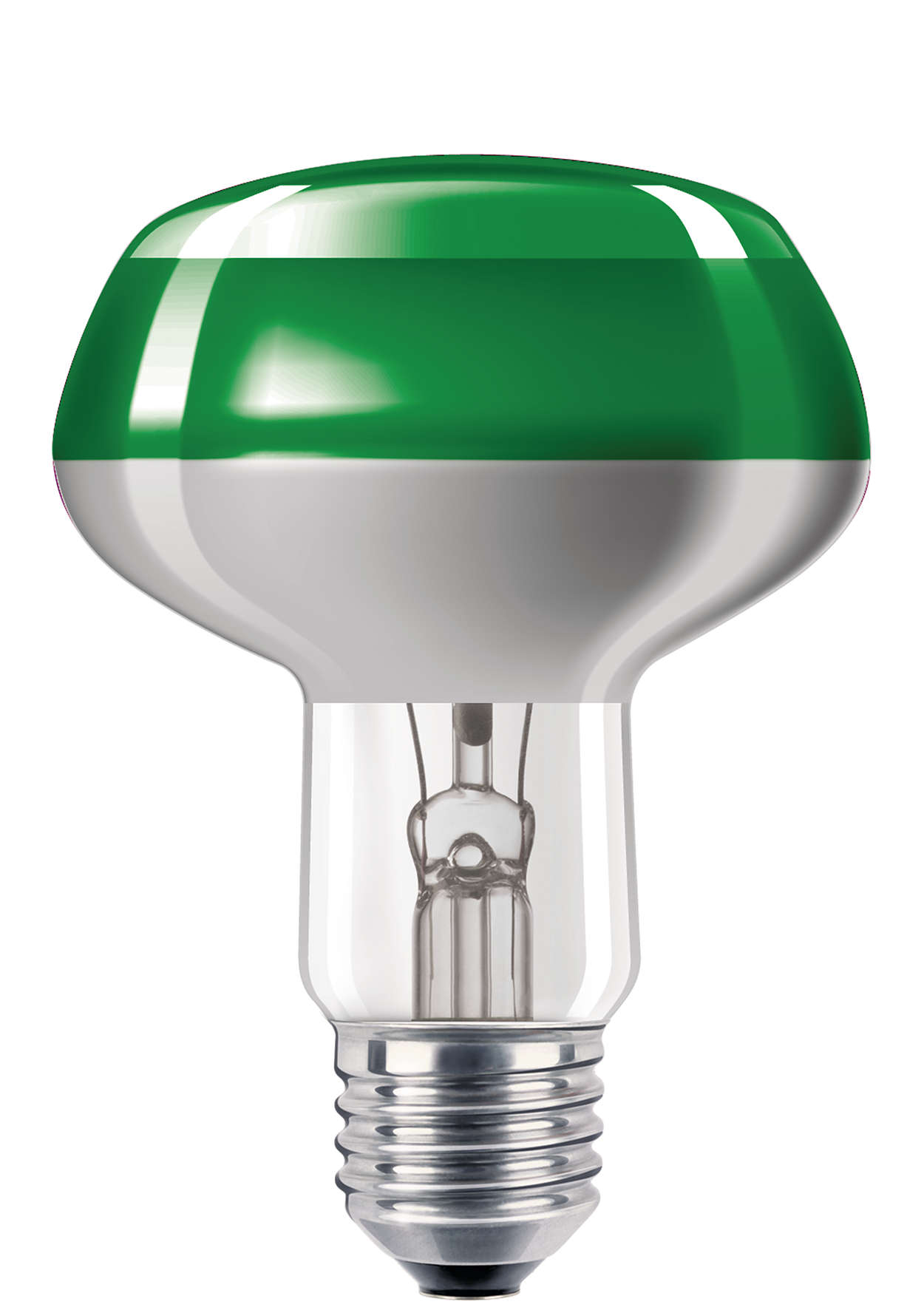 Fargede glødelamper med fremragende belegg
