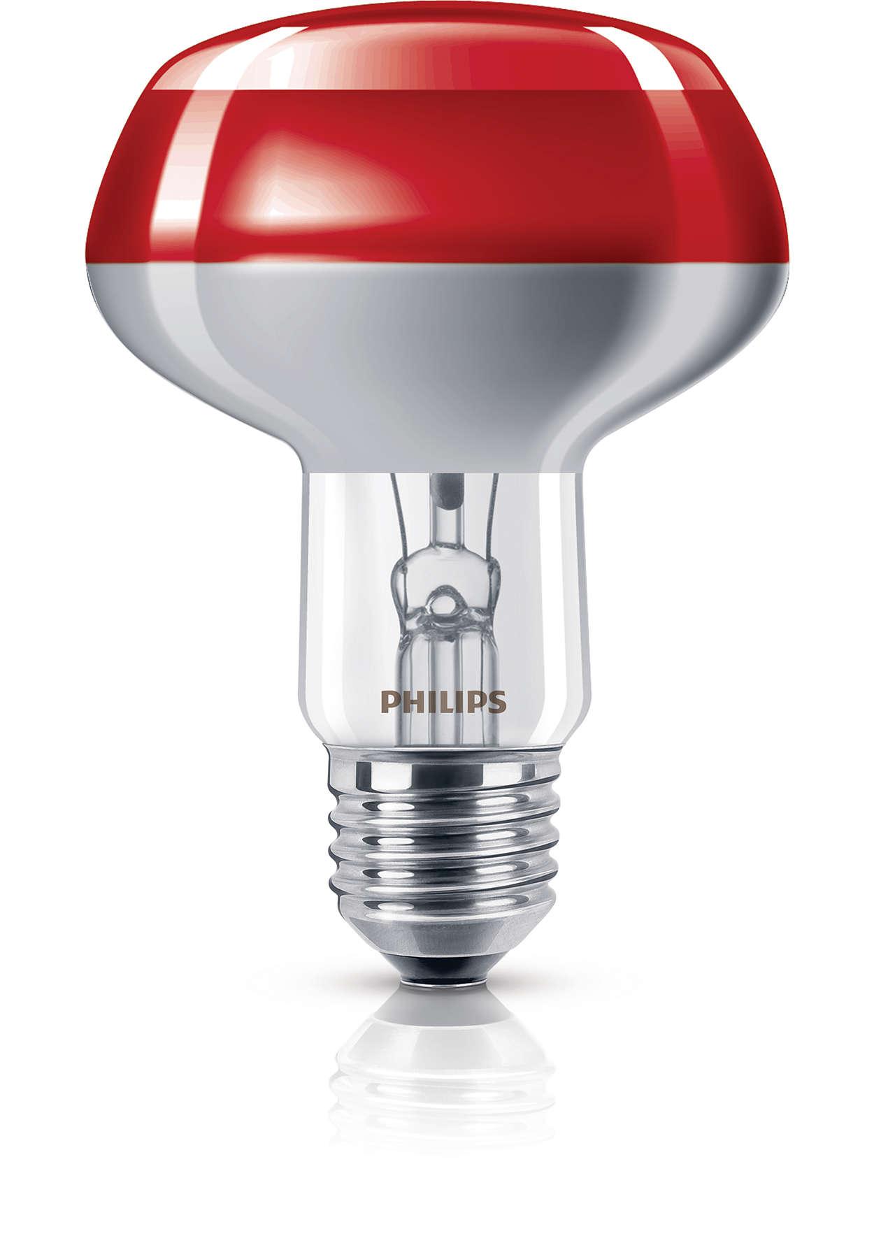 incand colored refl lamp ampoule r flecteur incandescence 8711500066541 philips. Black Bedroom Furniture Sets. Home Design Ideas