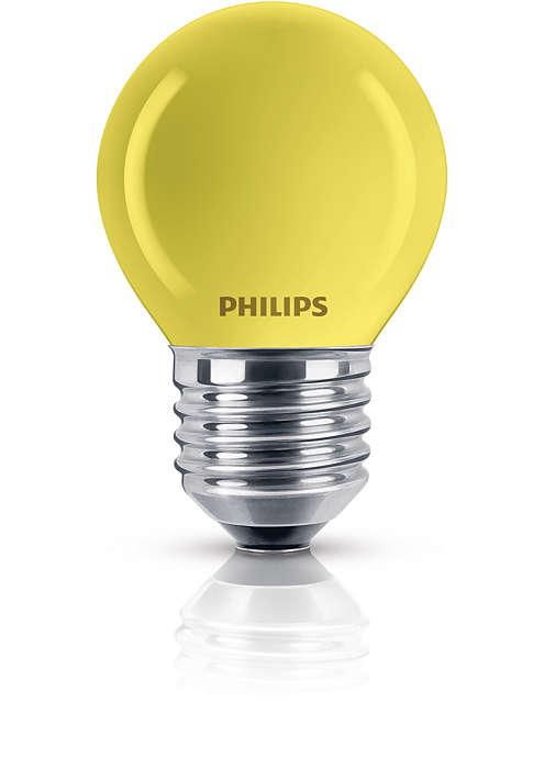 Farebná žiarovka vlustrovom tvare
