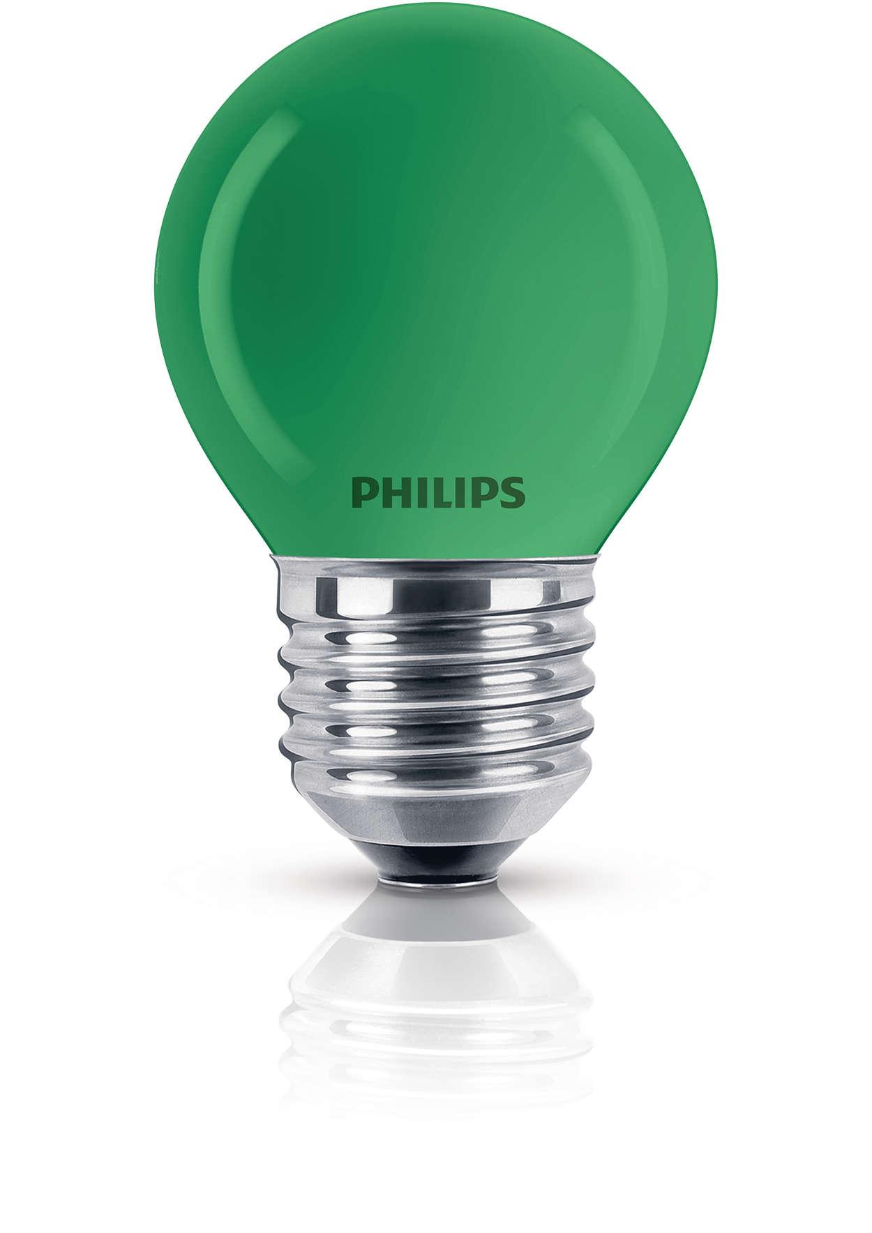 Barevná žárovka lustrového tvaru