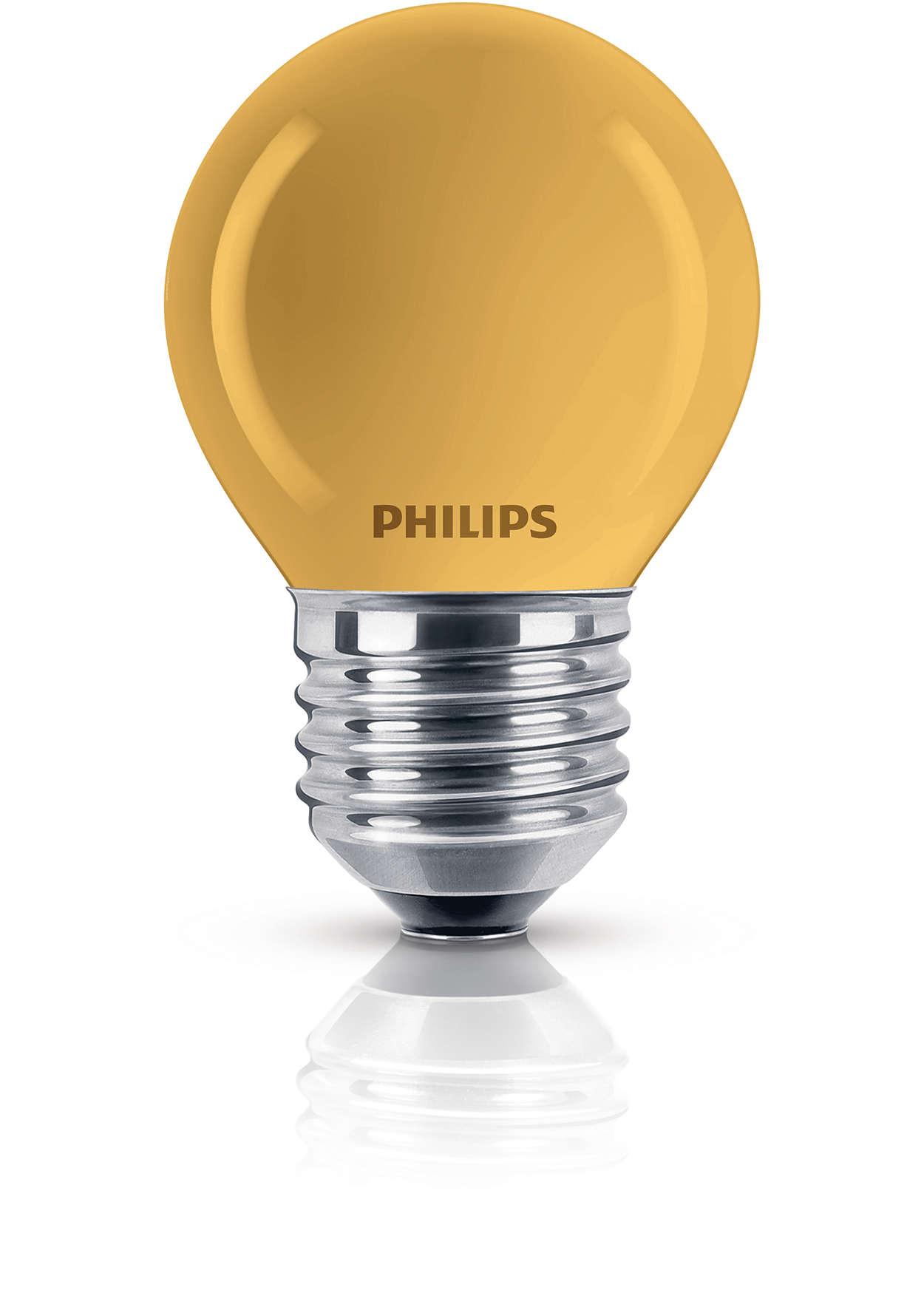 Ampoule sphérique colorée