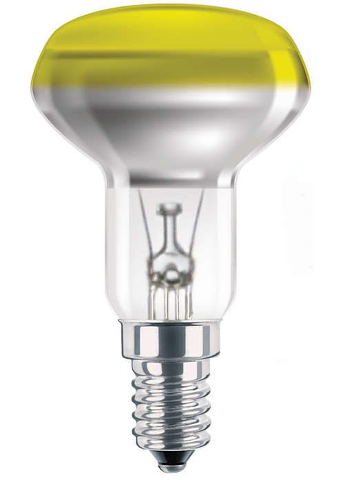 Цветные лампы накаливания с превосходным покрытием