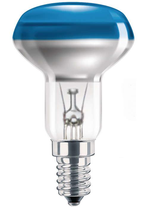 Beschichtete Reflektorlampe in verschiedenen Farben