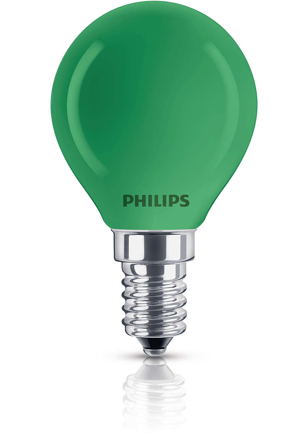 Farbige Lampe in Tropfenform