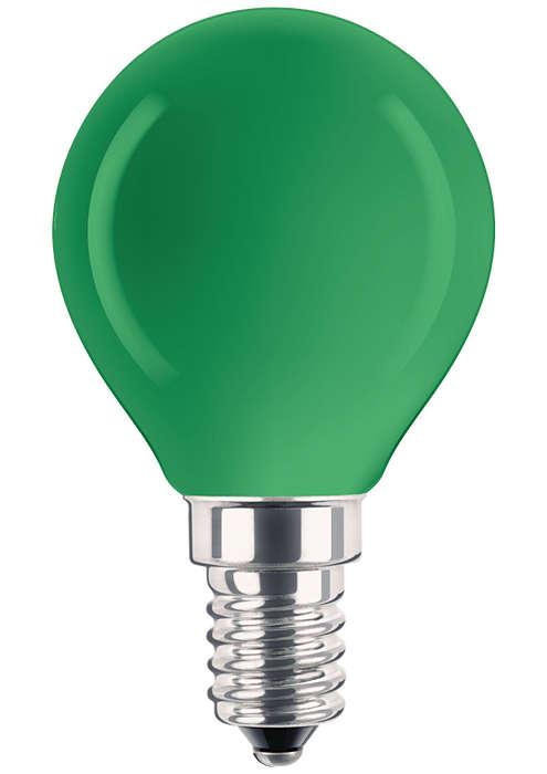 Gecoate reflectorlamp in verschillende kleuren