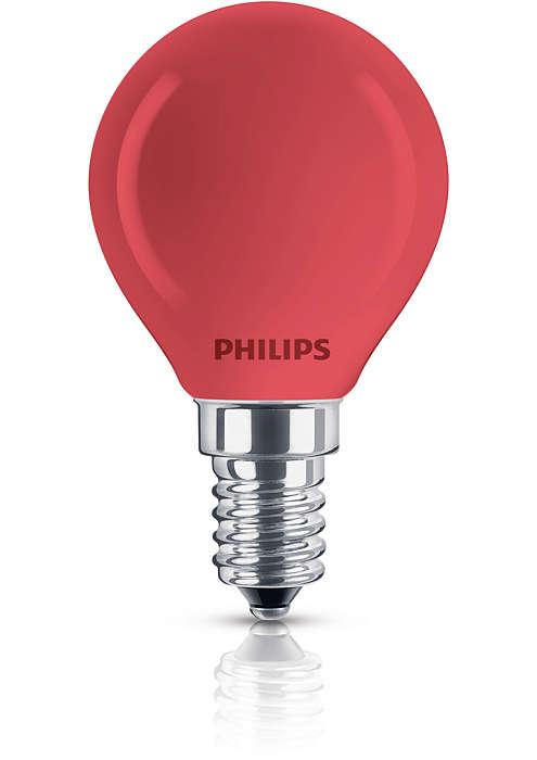Färgad klotformad lampa