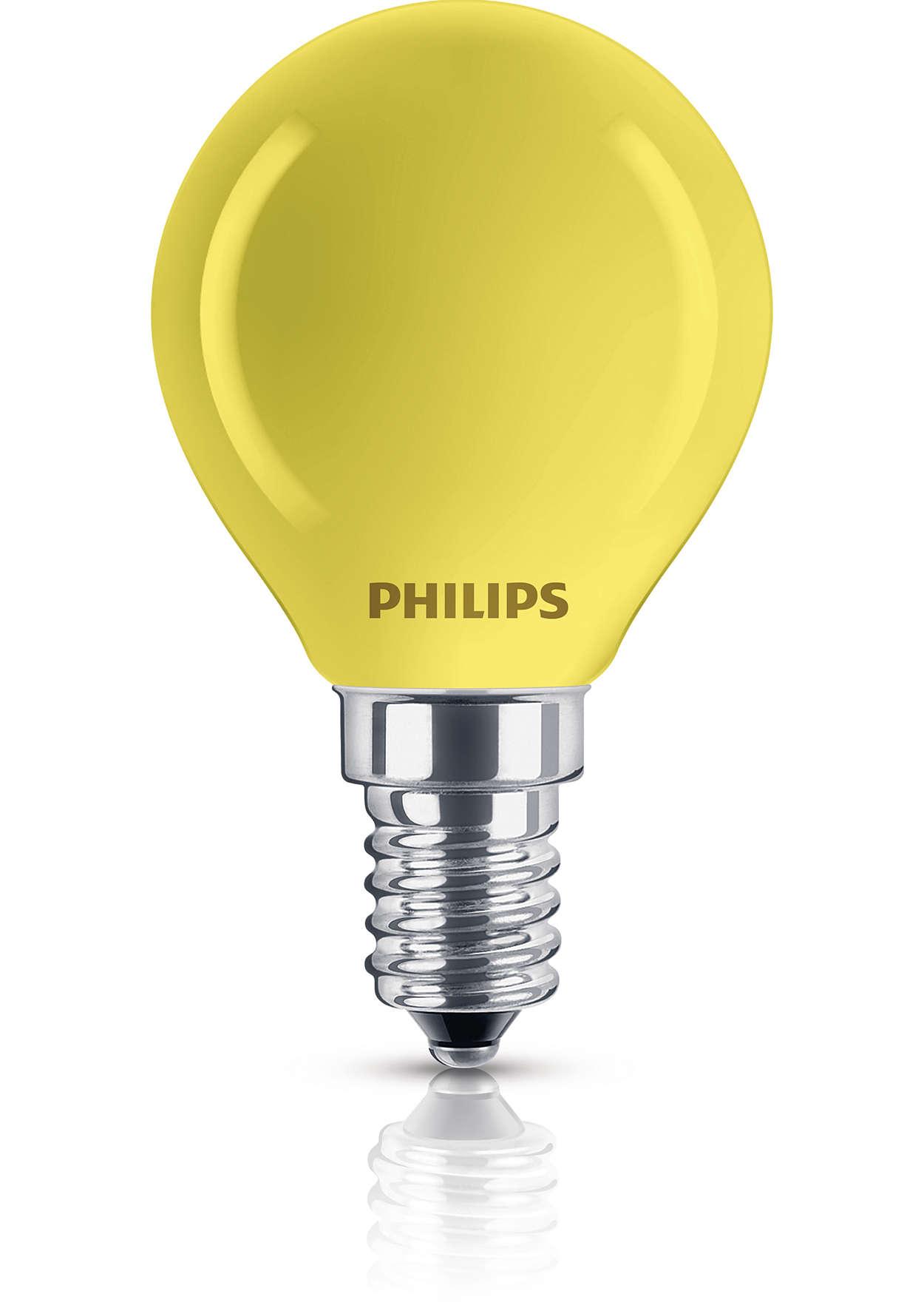 Belagd reflektorlampa i olika färger