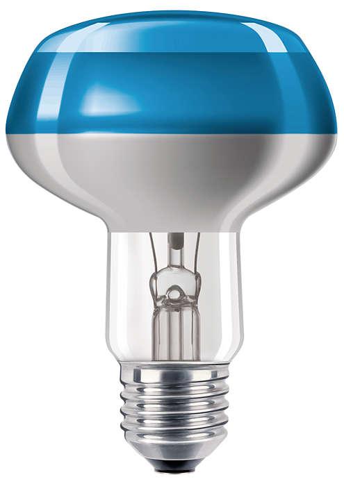 Lampadine colorate a incandescenza con rivestimento superiore
