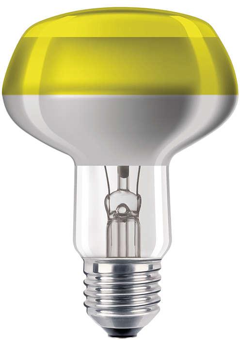 Ampoules à incandescence colorées avec revêtement supérieur