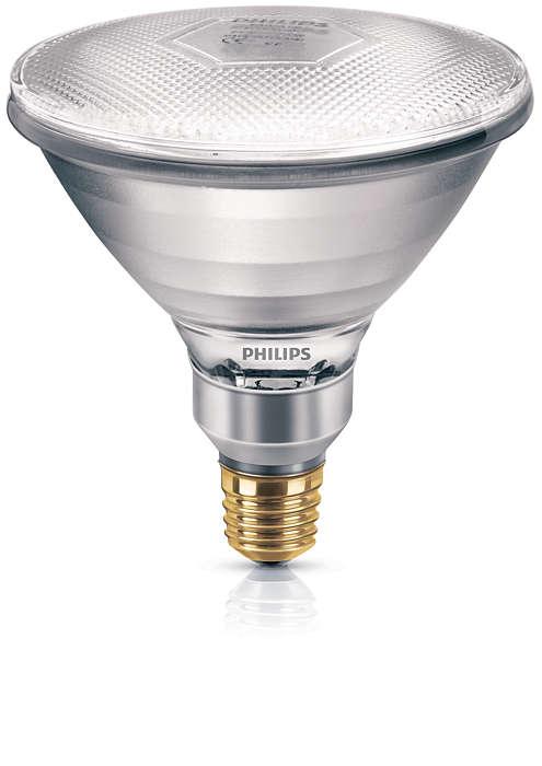 Reflektorlampe med høy intensitet
