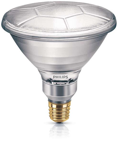Reflektorlampa med högintensivt ljus