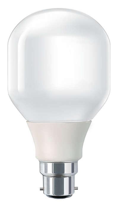 Bombilla de bajo consumo suave y agradable