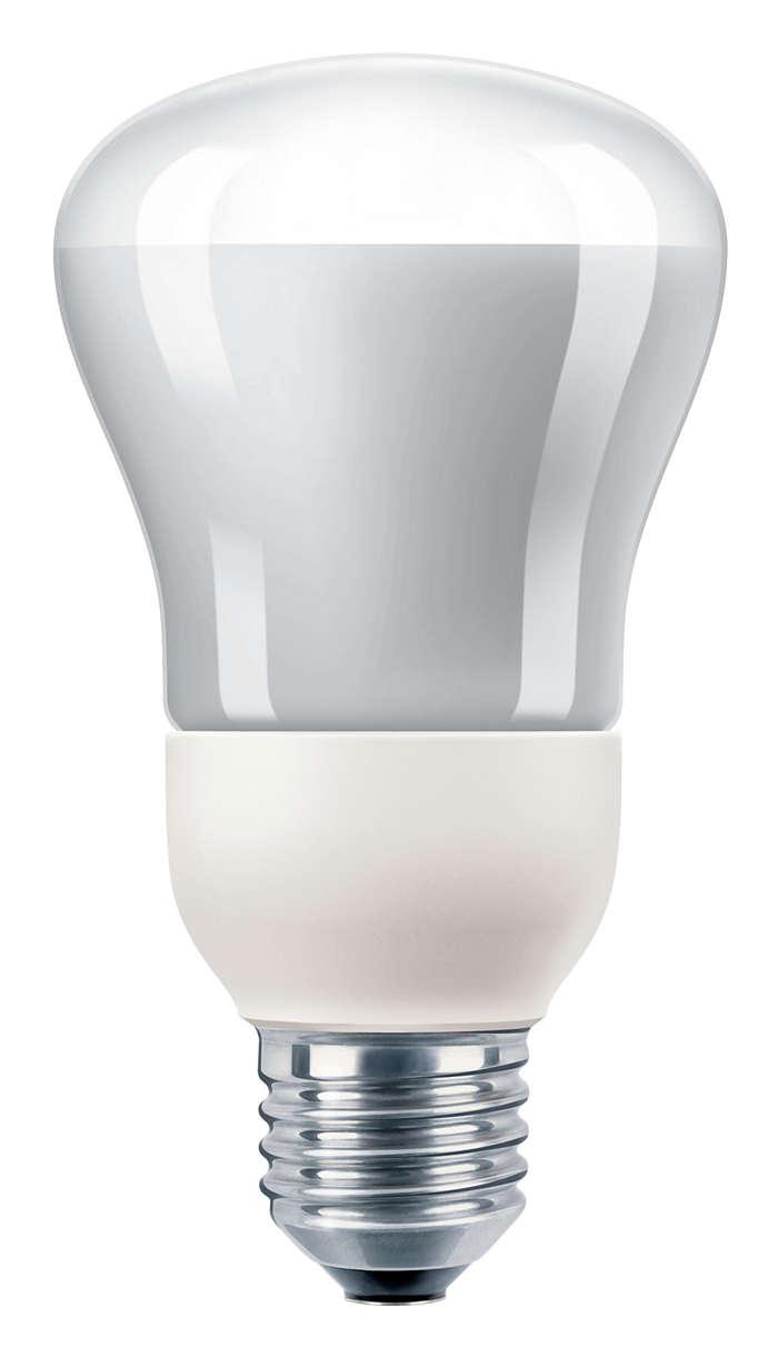 Ahorro de energía en un foco